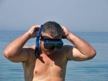 L'operatore subacqueo è pronto fotografie stock libere da diritti