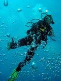 L'operatore subacqueo sale a Immagini Stock Libere da Diritti