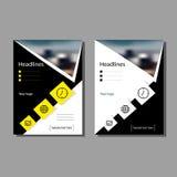 L'opuscolo per il rapporto, un opuscolo della copertura, presentazione, aletta di filatoio Fondo astratto geometrico piano Fotografia Stock