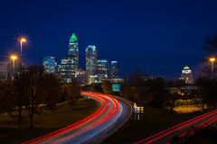 L'ora di punta di sera permuta a Charlotte, la Nord Carolina 3 Fotografia Stock Libera da Diritti