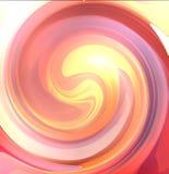 L'orange a brouillé le fond tordu avec des rayons du soleil Photo stock