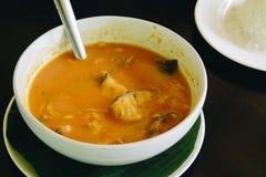 L'Orange-cari, som de Kaeng est nourriture thaïlandaise Photographie stock libre de droits