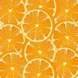 L'orange découpe le fond en tranches illustration de vecteur