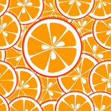 L'orange découpe le fond en tranches sans couture Photographie stock libre de droits