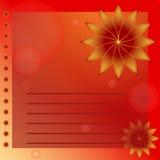 L'orange d'illustration fleurit la carte postale Photographie stock
