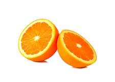 L'orange d'isolement sur le fond blanc Photographie stock
