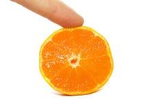 L'orange de coupure photos stock