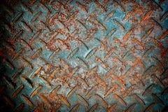 L'orange de plaque métallique rouillée de texture grunge a oxydé le fond en acier de graphiques de fer Photographie stock libre de droits
