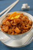 l'orange de poulet de sein élimine le sucre Image libre de droits