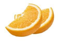 L'orange divise la diagonale de composition d'isolement sur le backgroun blanc Photos stock