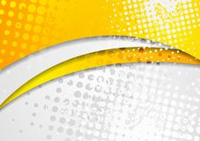 L'orange lumineuse abstraite ondule le fond d'entreprise grunge illustration stock