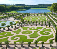 LOrangerie garden in Versailles Stock Photos