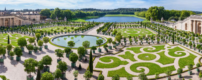 LOrangerie garden in Versailles palace Royalty Free Stock Photo