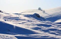 L'orario invernale, la riva della neve, Russia, paesaggio di bella natura selvaggia del Nord vede Bello ghiaccio di inverno della immagini stock