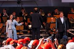 L'orchestra Campos di Osasco fa Jordao Sao Paulo Immagini Stock