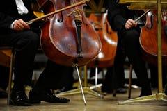 L'orchestra prepara immagine stock