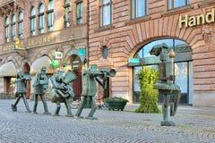 L'orchestre d'optimistes - sculpture à Malmö, Suède Photographie stock libre de droits