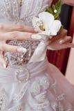 L'orchidée de la mariée Photo stock