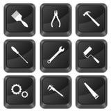 L'ordinateur boutonne des outils Photographie stock
