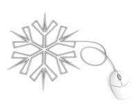 l'ordinateur de câble a dépeint le flocon de neige de souris Photo libre de droits