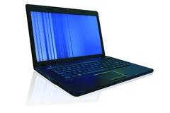 L'ordinateur portable en cours. Photo libre de droits