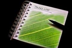 L'ordre du jour vert de la compagnie (CSR) Photos stock