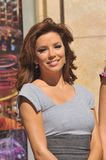 Eva Longoria Parker. L'Oreal spokeswomen Eva Longoria Parker on Hollywood Boulevard where L'Or�al Paris was honored with a special Friend of the Walk of Fame Stock Image