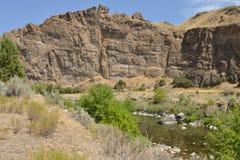 L'Oregon orientale fuori del fiume di John Day Monument Painted Hills Fotografia Stock