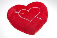 L'oreiller rouge du `s de Valentine Photo stock