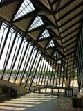 L'oreillette de la gare de Saint-Exupery à Lyon Images libres de droits