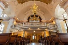 L'organe à l'intérieur de l'église de Gustaf Vasa, Stockholm, Suède photographie stock