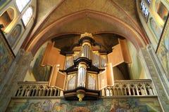 L'organe dans l'église de St Martin dans Cuijk Pays-Bas Photographie stock libre de droits
