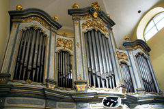 L'organe dans l'église de St Mark dans Litovel Images libres de droits