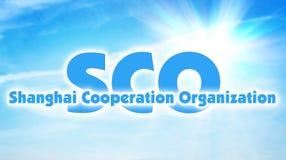 L'organizzazione di cooperazione di Shanghai, SCO Alleanza internazionale di alcuni stati dell'Asia illustrazione di stock