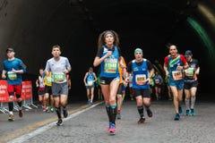 L'orgoglio dell'atleta maratona immagine stock libera da diritti