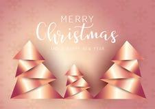 L'origami abstrait dénomme le fond d'arbre de Noël illustration stock