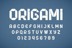 L'origami dénomme la police moderne illustration stock
