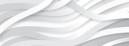 L'origami de papier dénomme le fond de profil onduleux dans la Co blanche et grise illustration libre de droits