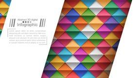 L'origami de papier dénomme - le fond de papier illustration de vecteur