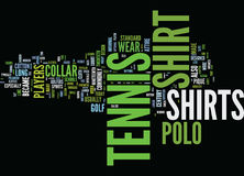L'origine di tennis e del concetto della nuvola di Polo Shirts Text Background Word illustrazione vettoriale