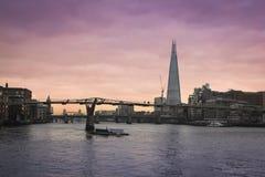 L'orizzonte della città di Londra del coccio Fotografie Stock