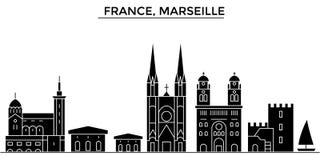 L'orizzonte della città di vettore dell'architettura della Francia, Cina, Hangzhou, paesaggio urbano di viaggio con i punti di ri illustrazione di stock