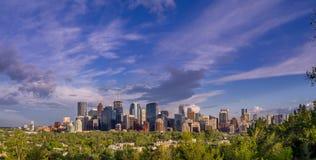 L'orizzonte di Calgary Immagini Stock