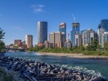 L'orizzonte di Calgary Immagini Stock Libere da Diritti