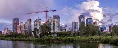 L'orizzonte di Calgary Fotografia Stock