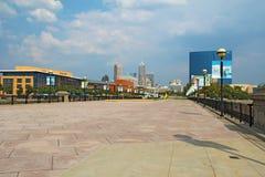 L'orizzonte di Indianapolis del centro, Indiana Immagini Stock