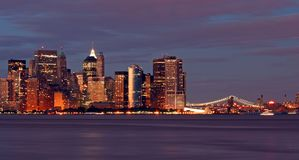 L'orizzonte di New York City Immagini Stock