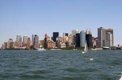 L'orizzonte di New York City Fotografie Stock