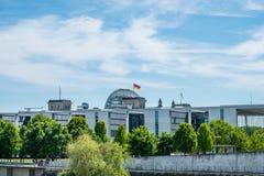 L'orizzonte sopra il distretto di governo, a Berlino, la Germania Fotografia Stock