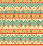 L'ornamentale decorativo del tessuto etnico ha barrato il modello senza cuciture nel vettore Fotografia Stock Libera da Diritti